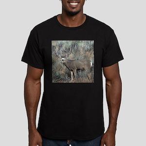 Utah mule deer buck Men's Fitted T-Shirt (dark)