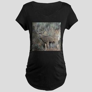 Utah mule deer buck Maternity Dark T-Shirt