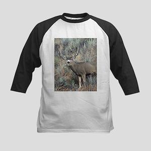 Utah mule deer buck Kids Baseball Jersey