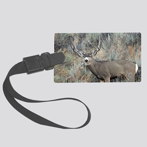 Utah mule deer buck Large Luggage Tag