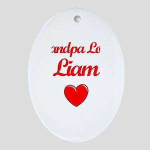 Grandpa Loves Liam Oval Ornament