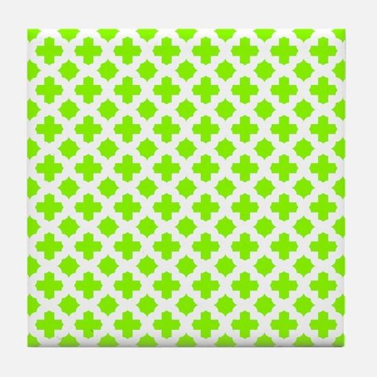 tile stars neon green star coasters cork puzzle tile coasters cafepress