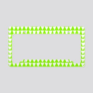 Green, Lime: Triangle Arrows License Plate Holder