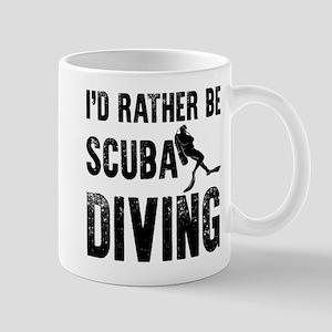 I'd Rather Be SCUBA Diving Mugs