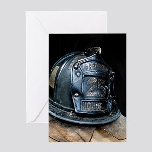 Houston Fire Fighter Greeting Cards