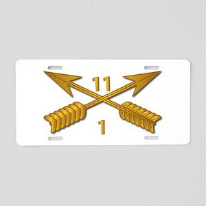 1st Bn 11th SFG Branch wo T Aluminum License Plate