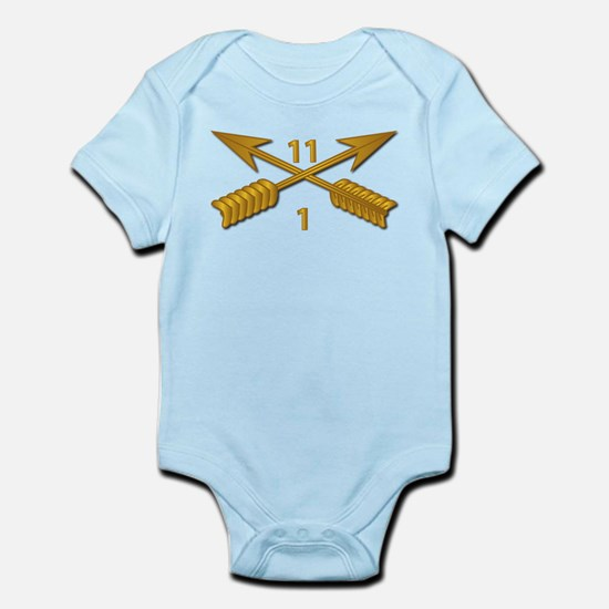 1st Bn 11th SFG Branch wo Txt Infant Bodysuit