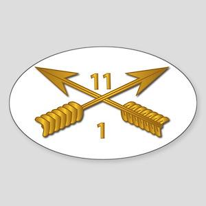 1st Bn 11th SFG Branch wo Txt Sticker (Oval)