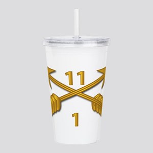 1st Bn 11th SFG Branch Acrylic Double-wall Tumbler