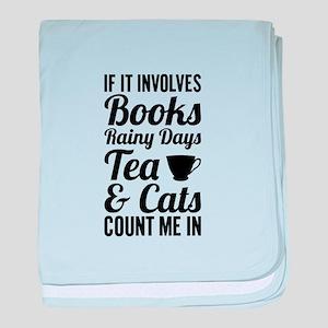 Books Tea Cats baby blanket