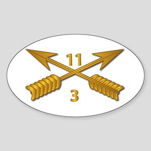 3rd Bn 11th SFG Branch wo Txt Sticker (Oval)