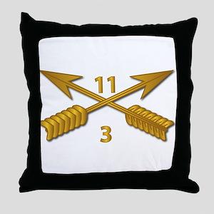3rd Bn 11th SFG Branch wo Txt Throw Pillow
