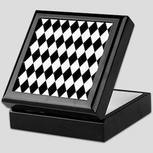 Black and White Harlequin Pattern Keepsake Box