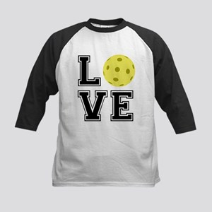Love Pickleball Kids Baseball Jersey
