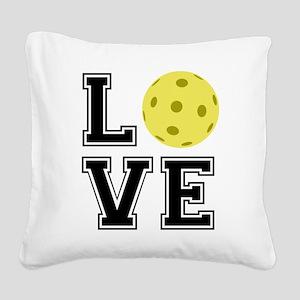 Love Pickleball Square Canvas Pillow