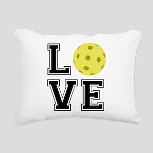 Love Pickleball Rectangular Canvas Pillow
