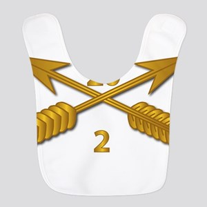 2nd Bn 20th SFG Branch wo Txt Polyester Baby Bib