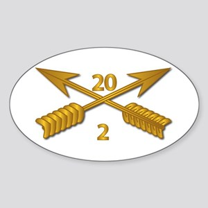 2nd Bn 20th SFG Branch wo Txt Sticker (Oval)