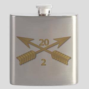 2nd Bn 20th SFG Branch wo Txt Flask