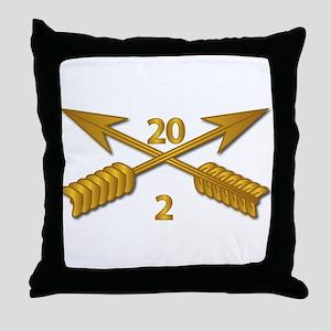2nd Bn 20th SFG Branch wo Txt Throw Pillow