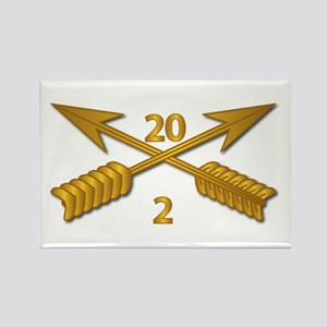 2nd Bn 20th SFG Branch wo Txt Rectangle Magnet
