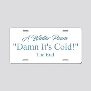 A Winter Poem Aluminum License Plate
