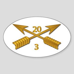 3rd Bn 20th SFG Branch wo Txt Sticker (Oval)
