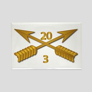 3rd Bn 20th SFG Branch wo Txt Rectangle Magnet