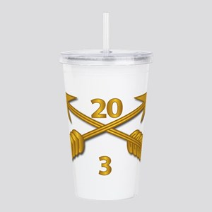 3rd Bn 20th SFG Branch Acrylic Double-wall Tumbler