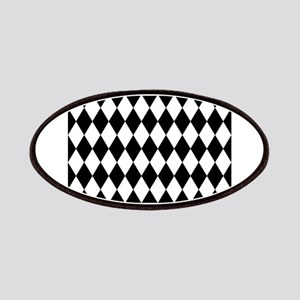 Black and White Harlequin Pattern Patch
