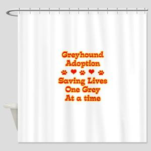 greyhound lives1 Shower Curtain