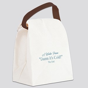 A Winter Poem Canvas Lunch Bag