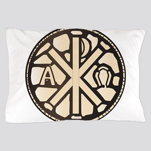 Alpha Omega Stain Glass Pillow Case