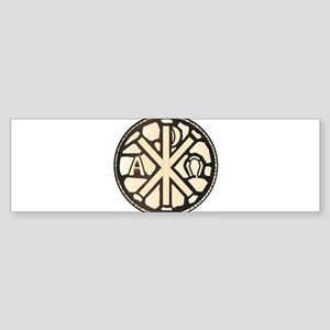 Alpha Omega Stain Glass Bumper Sticker
