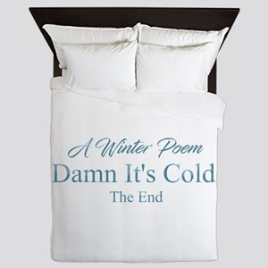A Winter Poem Queen Duvet