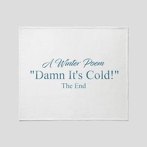 A Winter Poem Throw Blanket