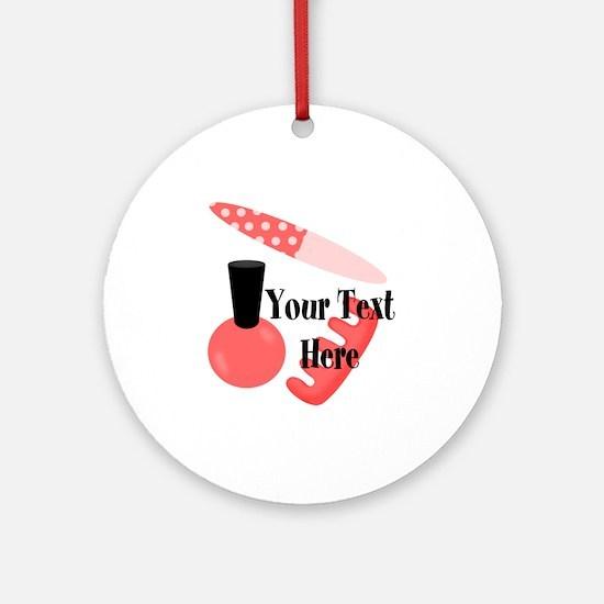 Personalizable Manicure Set Mani Pedi Round Orname