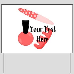 Personalizable Manicure Set Mani Pedi Yard Sign