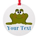 Personalizable Blue Frog Ornament