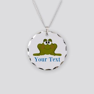 Personalizable Blue Frog Necklace