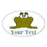 Personalizable Blue Frog Sticker