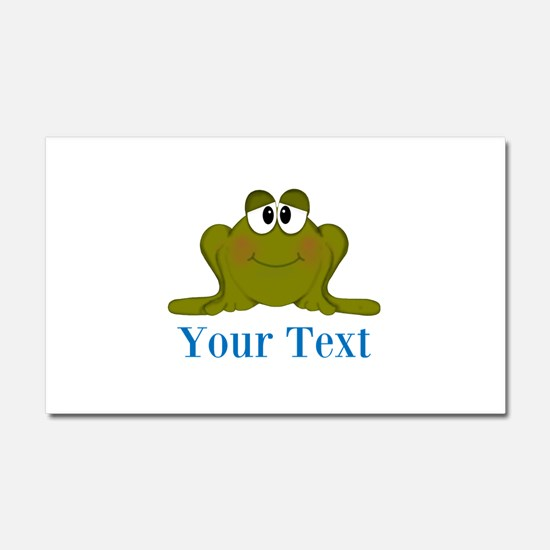 Personalizable Blue Frog Car Magnet 20 x 12