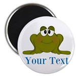 Personalizable Blue Frog Magnets