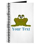 Personalizable Blue Frog Journal