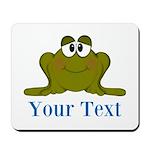 Personalizable Blue Frog Mousepad