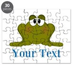 Personalizable Blue Frog Puzzle