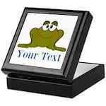 Personalizable Blue Frog Keepsake Box