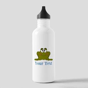 Personalizable Blue Frog Water Bottle