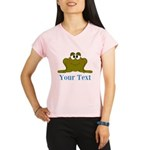Personalizable Blue Frog Performance Dry T-Shirt