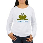 Personalizable Blue Frog Long Sleeve T-Shirt